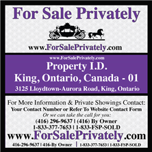 For Sale Privately Sign and Stand